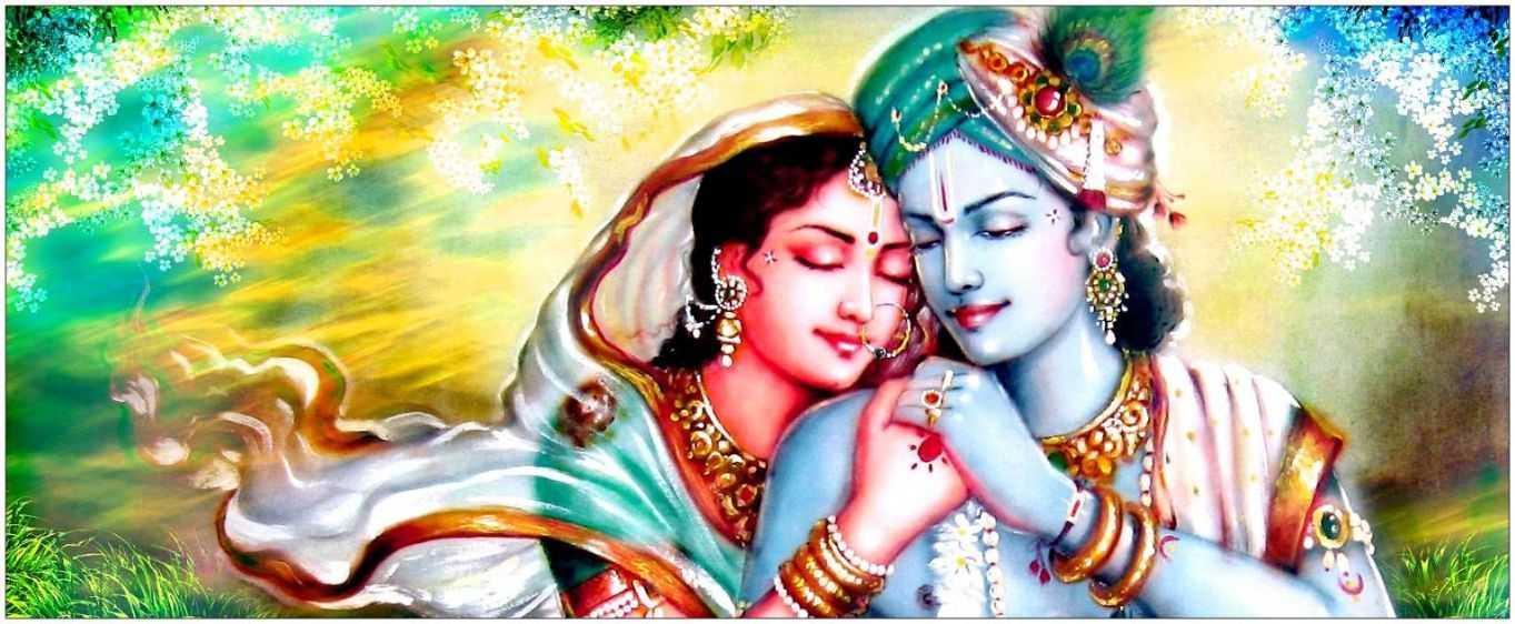 Wallpaper, Shri, Modern, Radha, Desktop, Krishna, Full - Radha Krishna Status In Hindi - HD Wallpaper