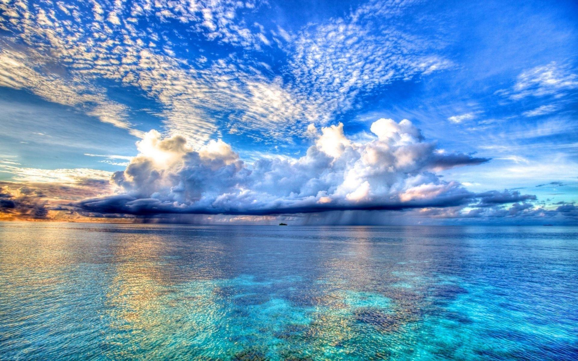 Sea And Ocean Water Sky Summer Landscape Nature Sea - Landscape Wallpaper Water - HD Wallpaper