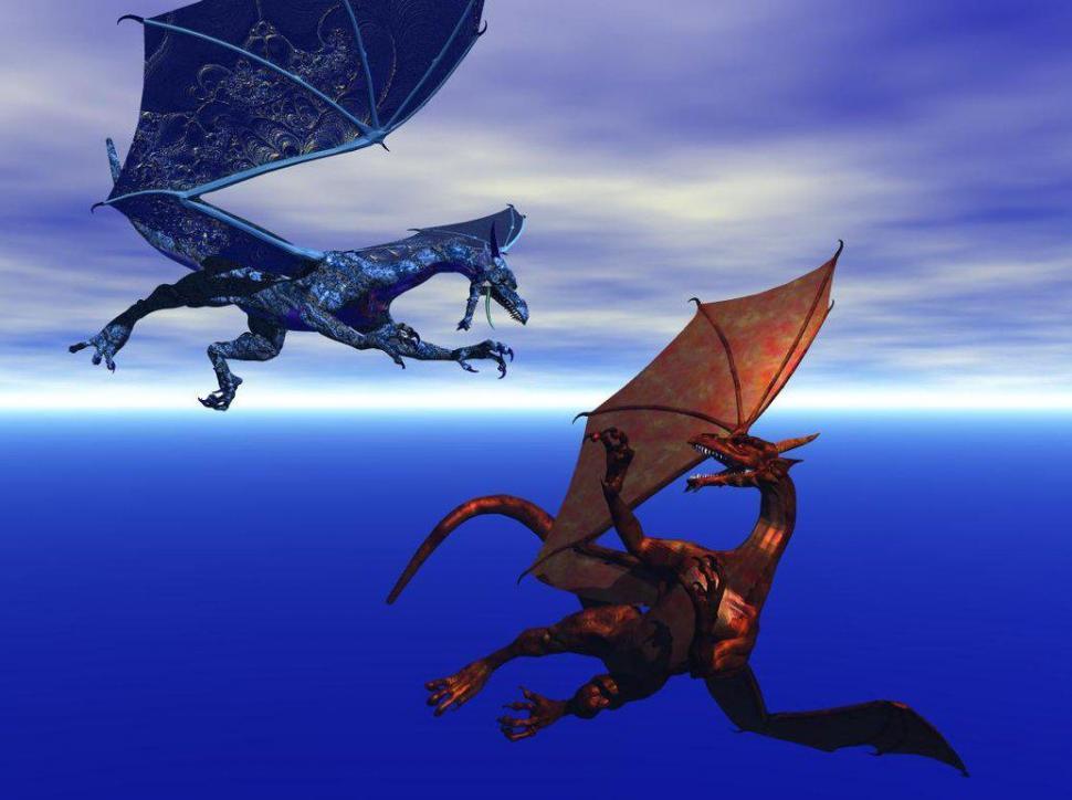 Fire Vs Ice Dragon Fight Wallpaper,fire Wallpaper,dragon - Fire And Ice Dragons Fighting - HD Wallpaper