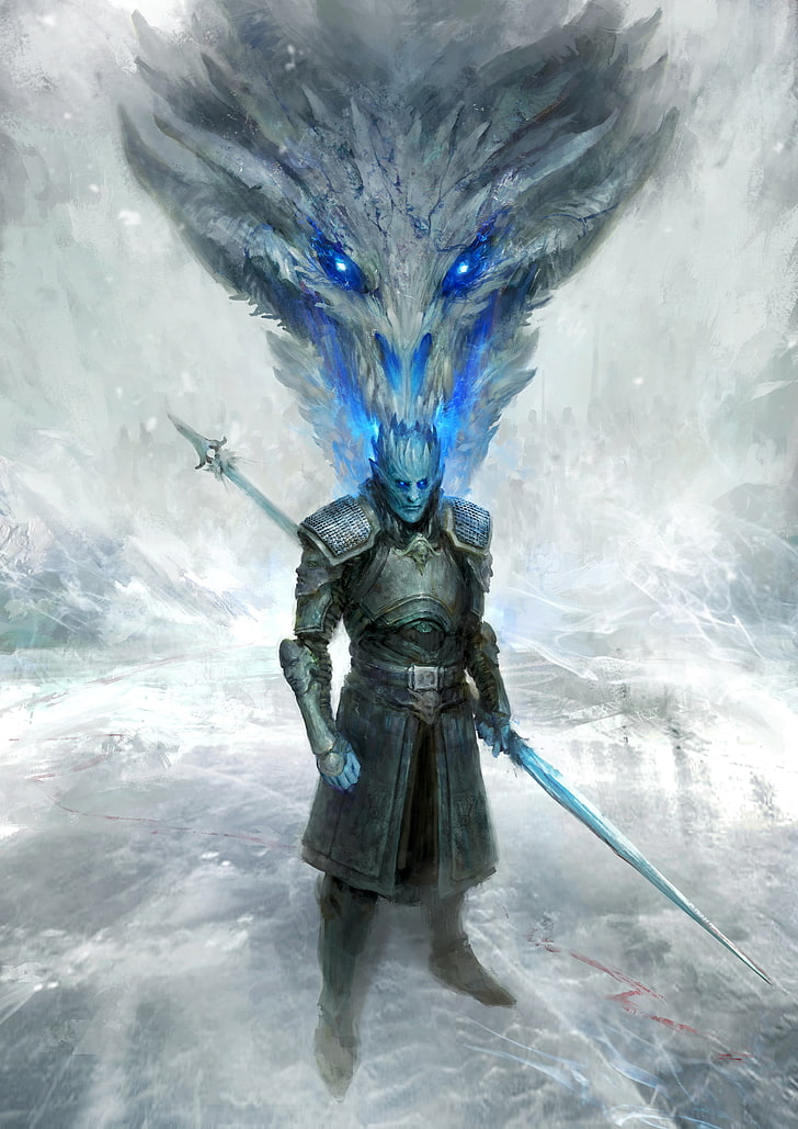 Daniel Kamarudin, Illustration, Game Of Thrones, Dragon, - Night King And Viserion - HD Wallpaper