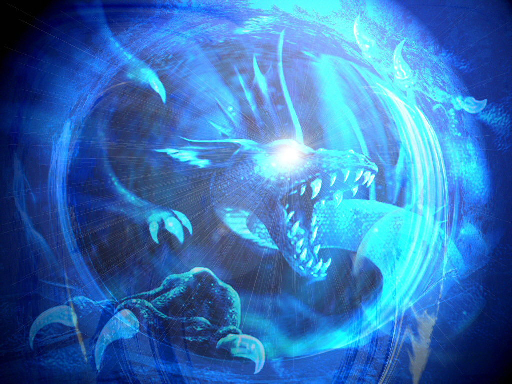 Ice Dragon - HD Wallpaper