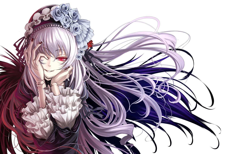 Purple Gothic Anime - Suigintou From Rozen Maiden - HD Wallpaper