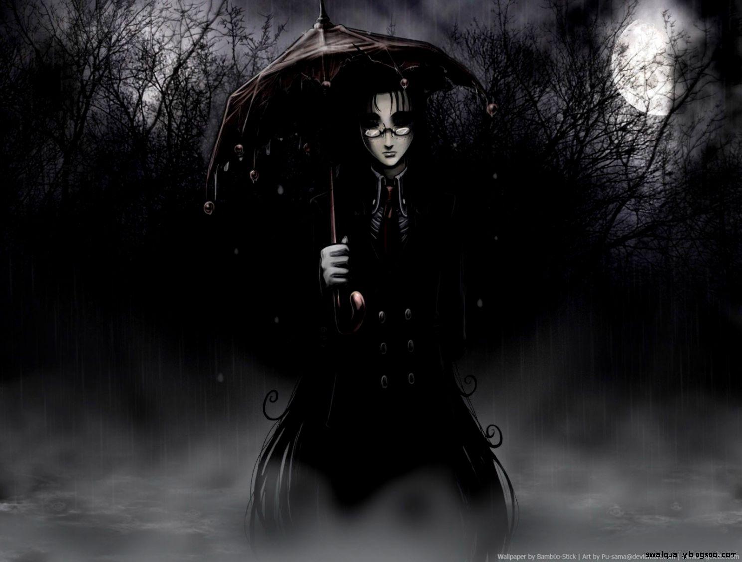 Dark Gothic Anime Girl - Gothic Anime Backgrounds - HD Wallpaper