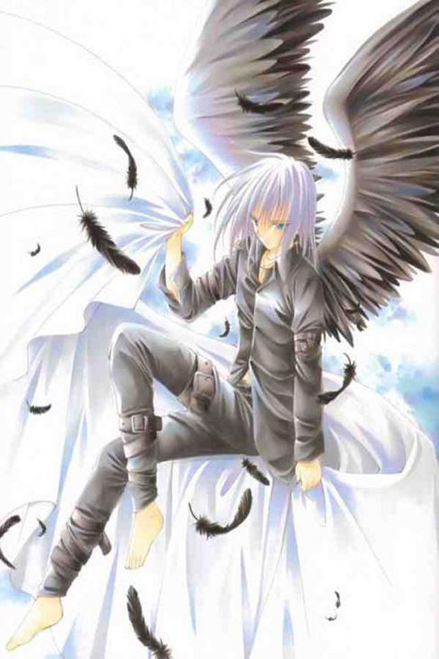 Wallpaper 4 Apples Iphone 4 And Iphone 4s Anime Fallen Angel Boy 640x960 Wallpaper Teahub Io