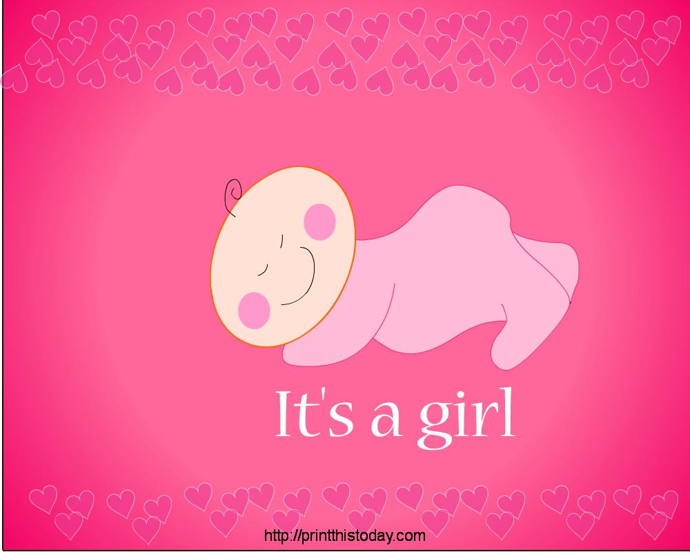 It's A Girl - It's A Girl Baby Shower - HD Wallpaper
