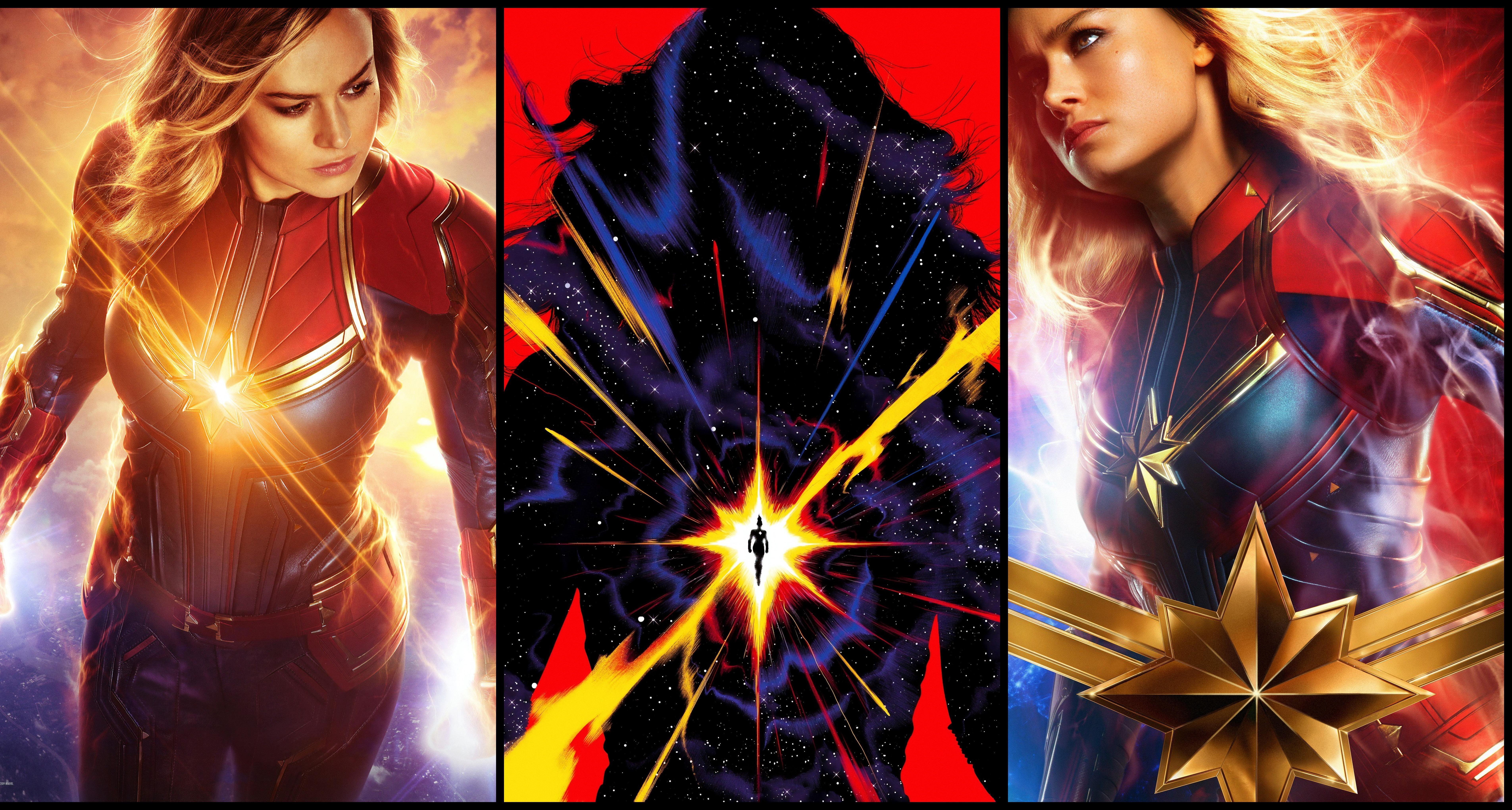 Captain Marvel Wallpaper Hd Movie Poster Wallpaper Captain Marvel Wallpaper Phone 7620x4080 Wallpaper Teahub Io