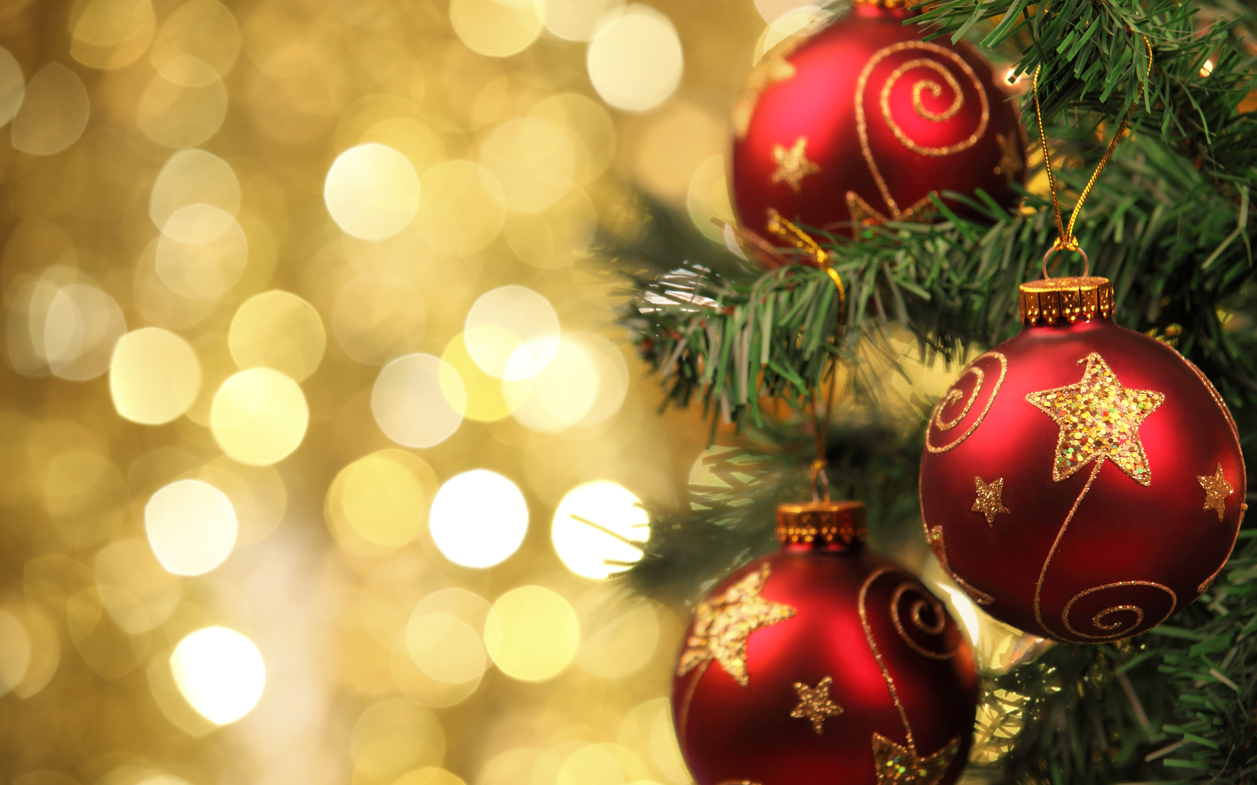 Christmas Ornaments Desktop Background - HD Wallpaper