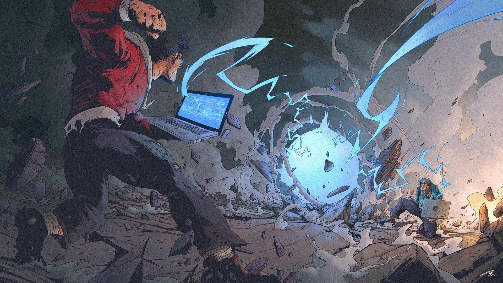 Laptop Anime Wallpaper Hd 1920x1080 Wallpaper Teahub Io