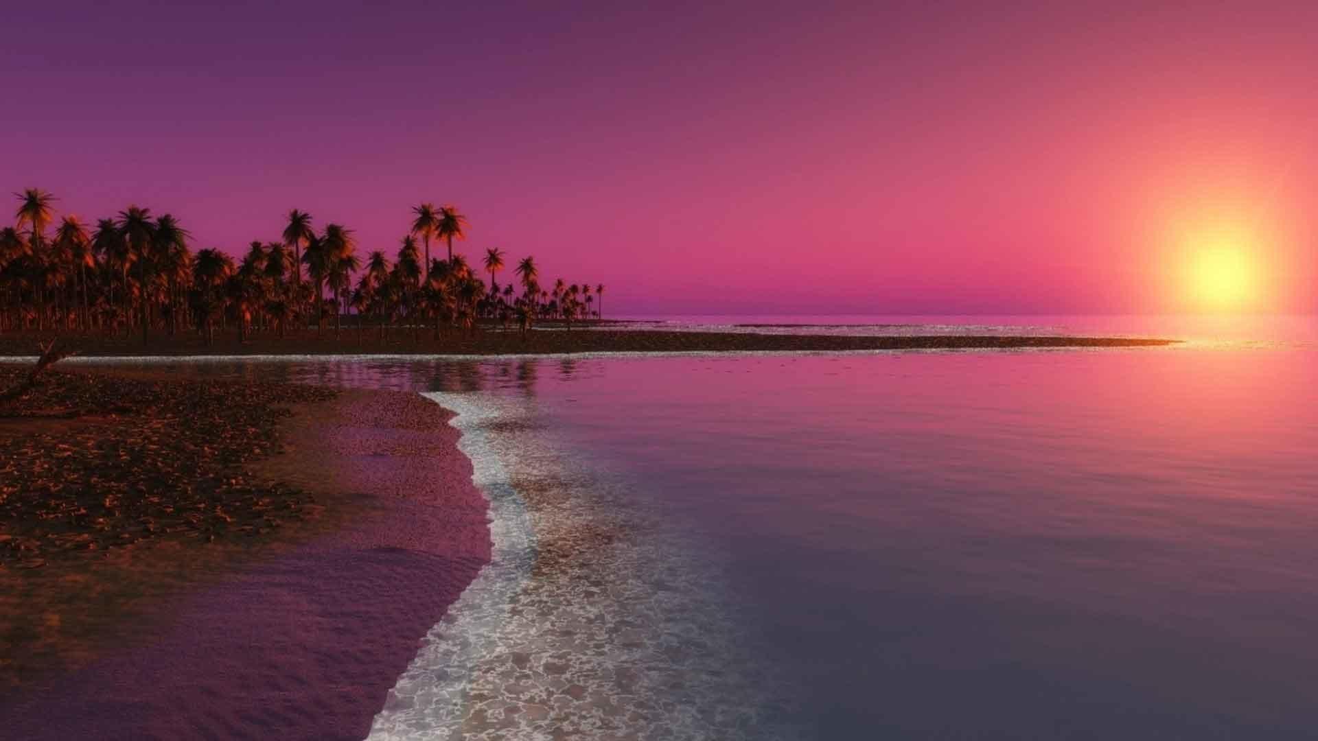 Sunrise Sunset Ocean Reflection Water Beach Hd Wallpapers - Nature Windows 10 Background - HD Wallpaper