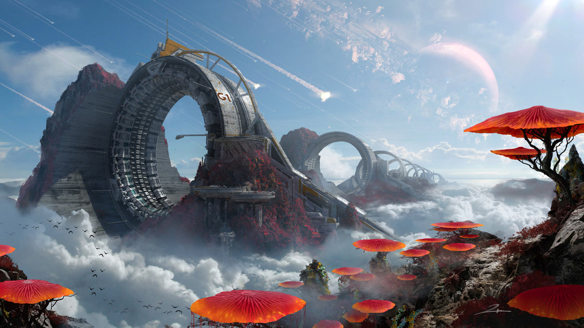 Cool Computer Wallpaper Sci Fi Landscape Concept Art 1920x1080 Wallpaper Teahub Io