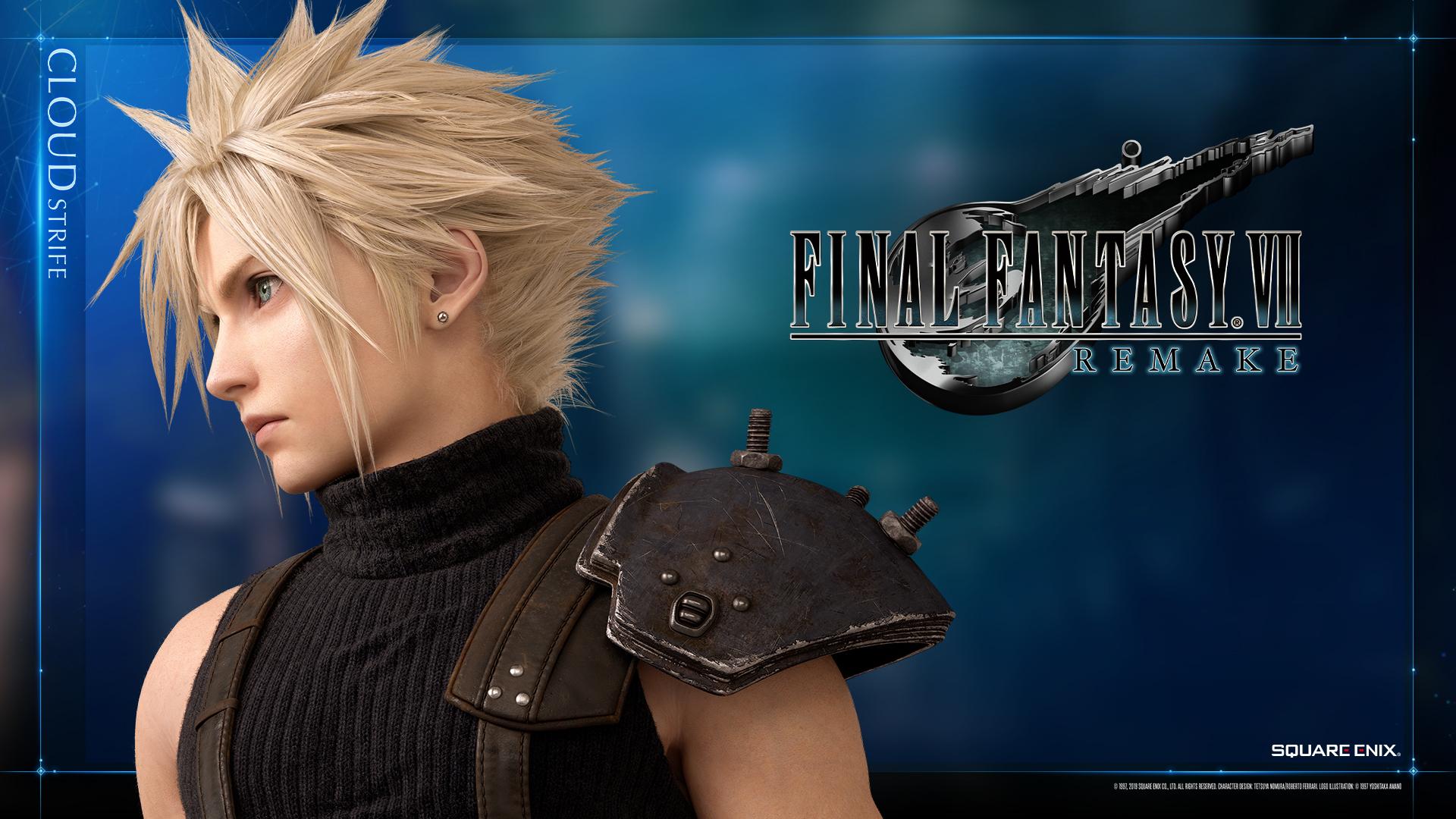 Final Fantasy Vii Remake Gets Official Wallpaper Of - Cloud Strife Final Fantasy 7 Remake - HD Wallpaper