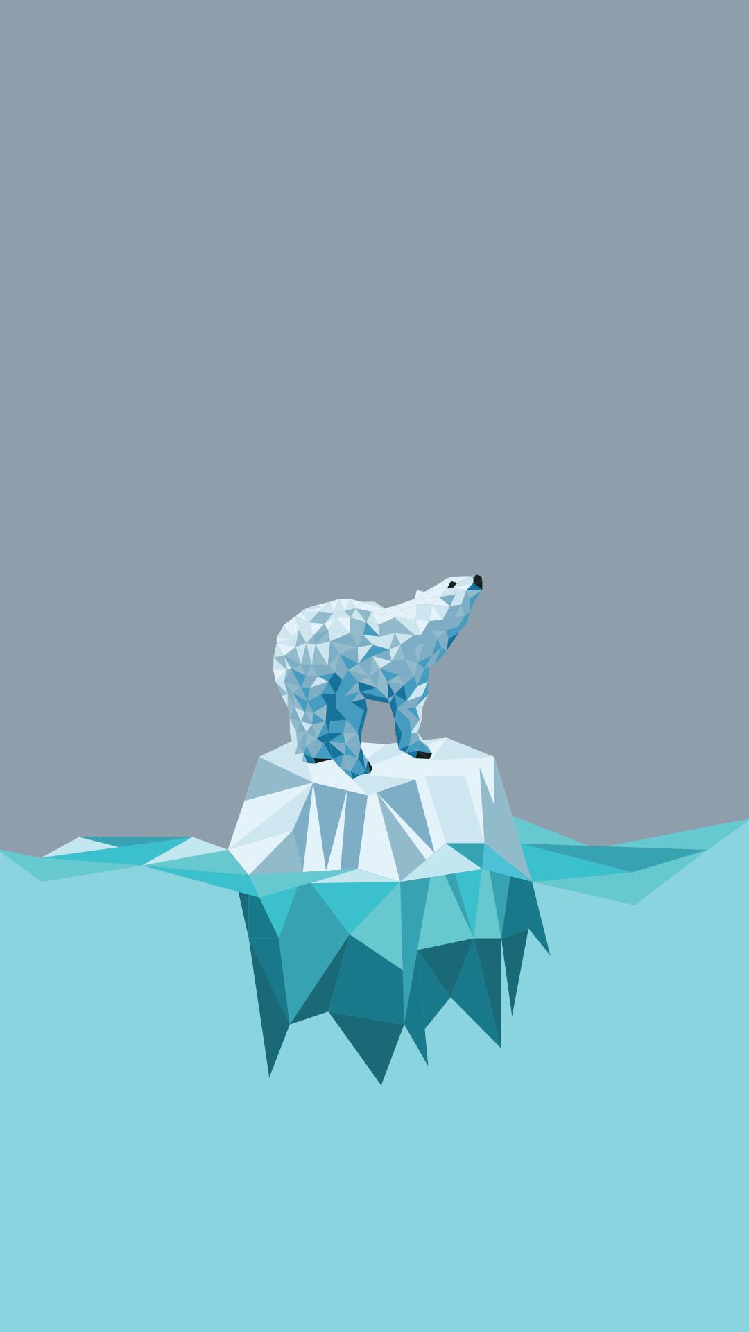 1080x1920, Minimal Iphone Wallpaper ¤ Polar Bear - Polar Bear Wallpaper Iphone - HD Wallpaper