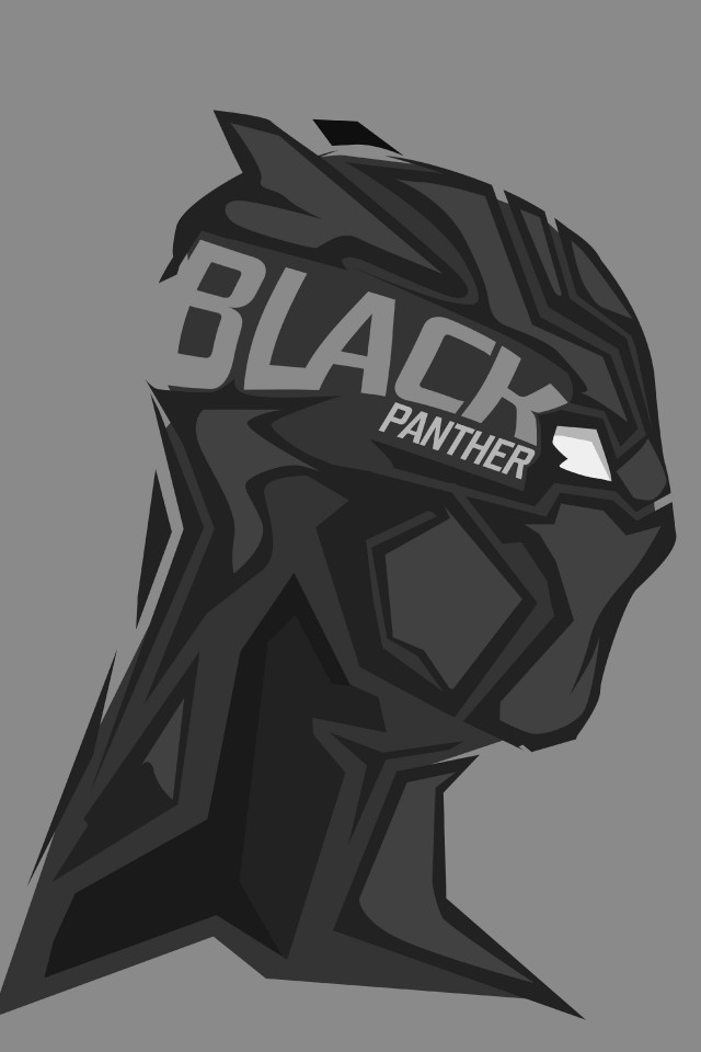 8k, 4k, Black Panther, Minimal - Black Panther Hd Wallpaper For Mobile - HD Wallpaper