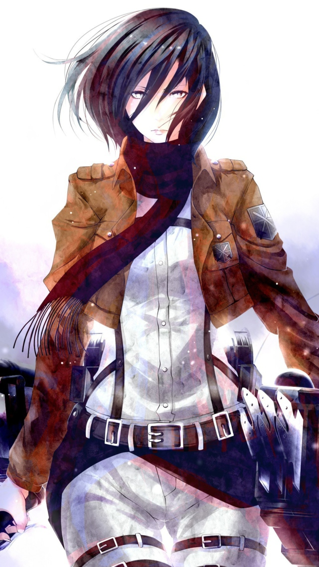 Mikasa Ackerman Wallpapers Hd Download Mikasa Ackerman Wallpaper Hd Phone 640x1136 Wallpaper Teahub Io