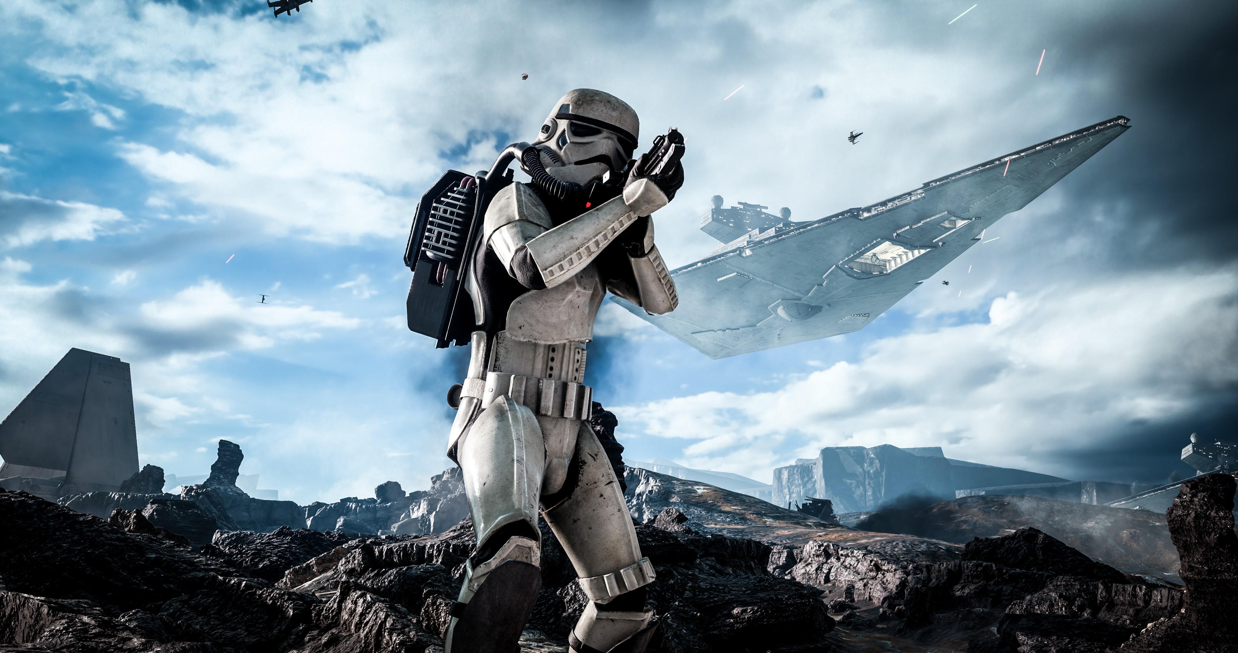 4k Wallpaper Star Wars Stormtrooper 4096x2160 Wallpaper Teahub Io