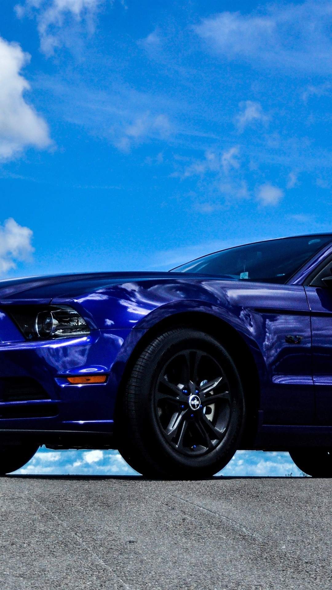 Iphone Wallpaper Ford Mustang Blue Car Side View Ford Mustang 1080x1920 Wallpaper Teahub Io