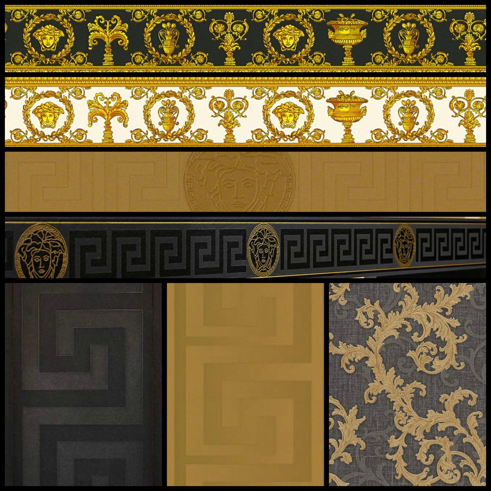 Versace Gold Wallpaper Versace Wall Paper Black And Gold 1600x1600 Wallpaper Teahub Io