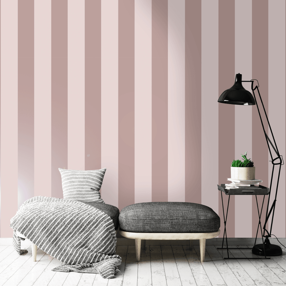 Pink And Grey Striped - HD Wallpaper