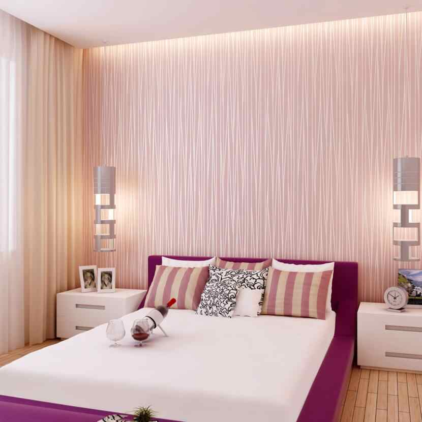 Modern Fashion Striped Wallpaper Luxury Living Room - Bedroom Wallpaper Grey And Pink - HD Wallpaper