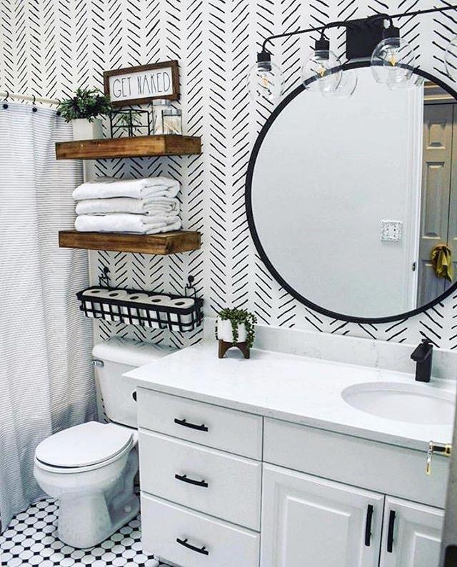 Small Bathroom Ideas - Wall Stencil Ideas - HD Wallpaper