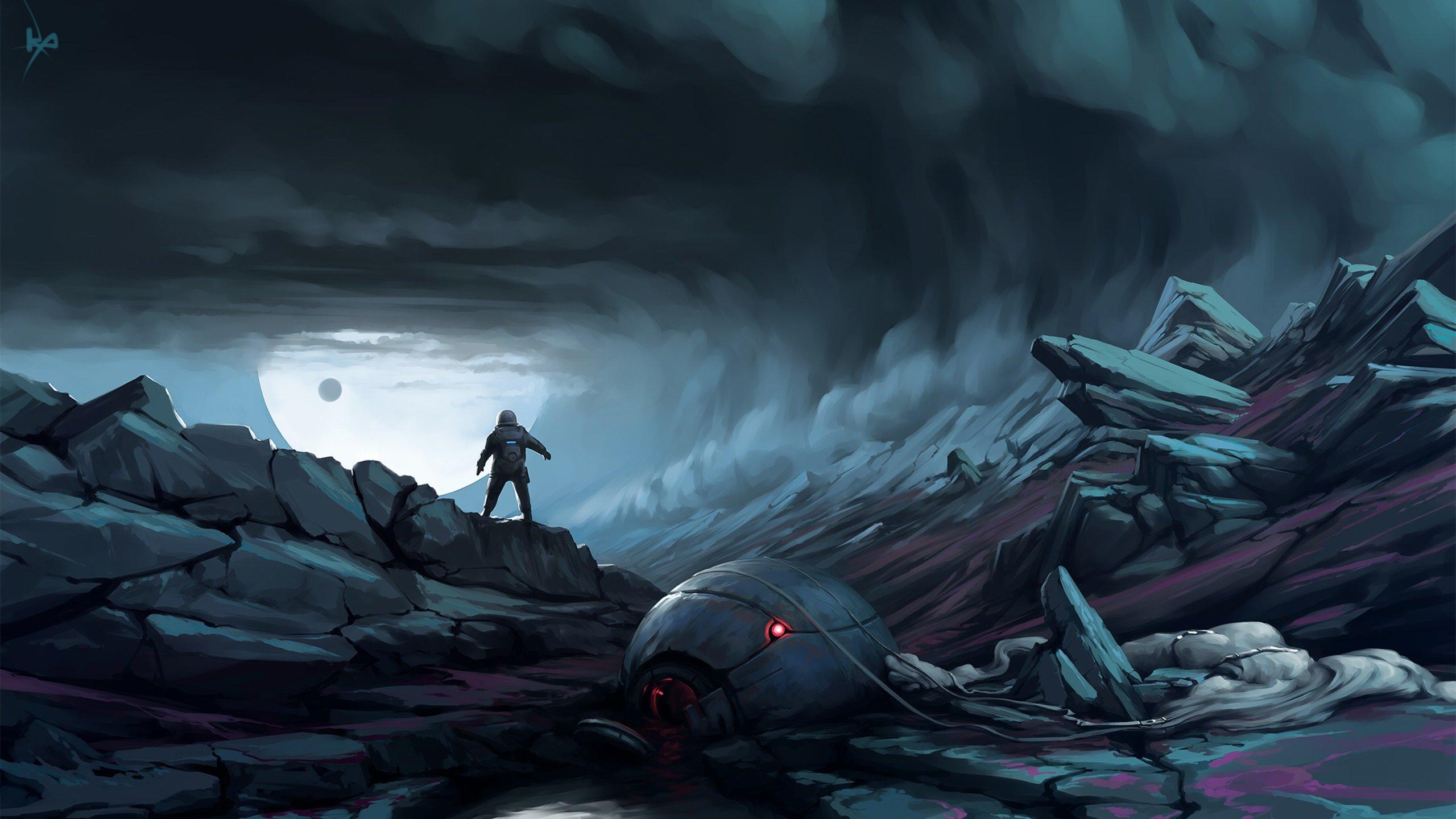 Dark Sci Fi Fantasy Art - HD Wallpaper