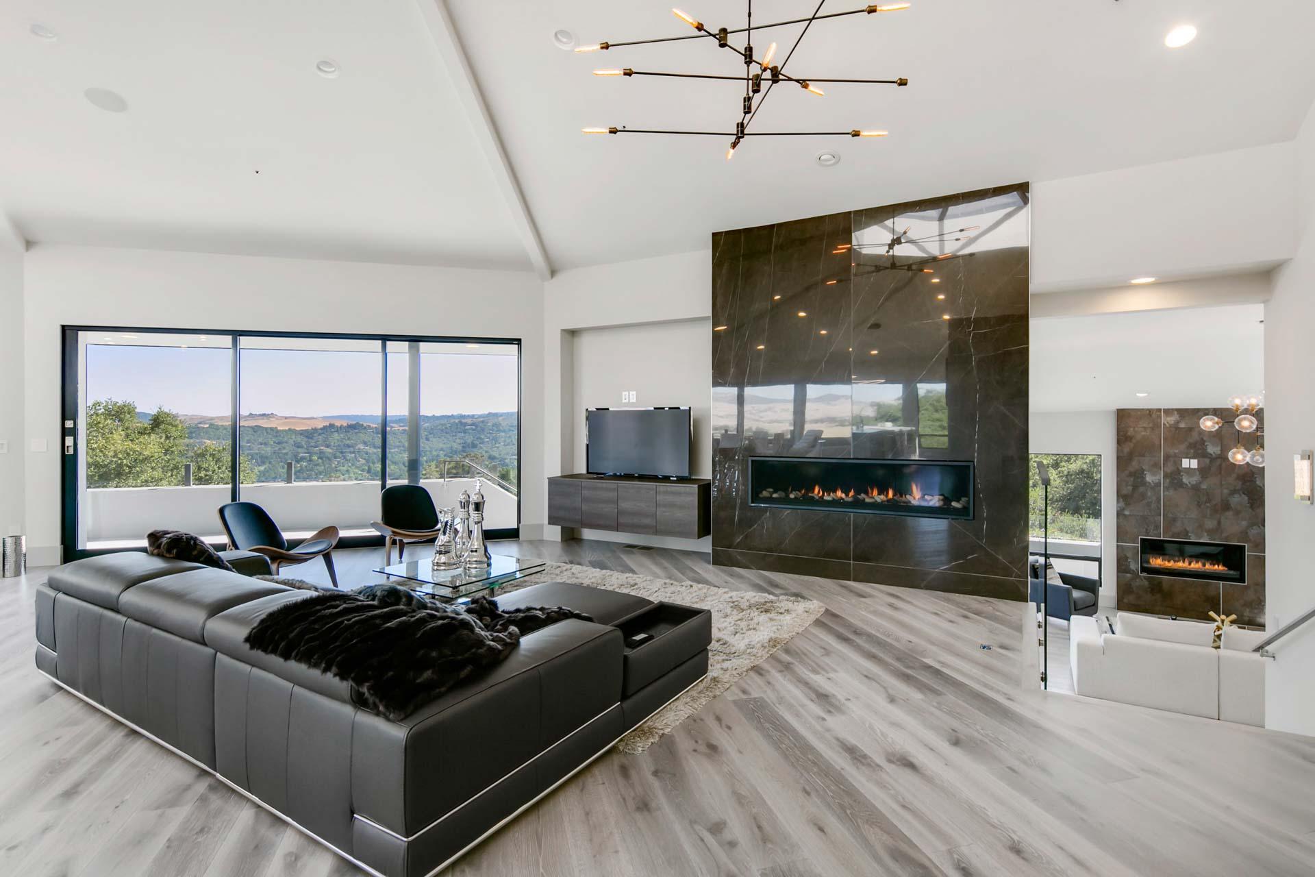 Modern Living Room Feature Wall - HD Wallpaper