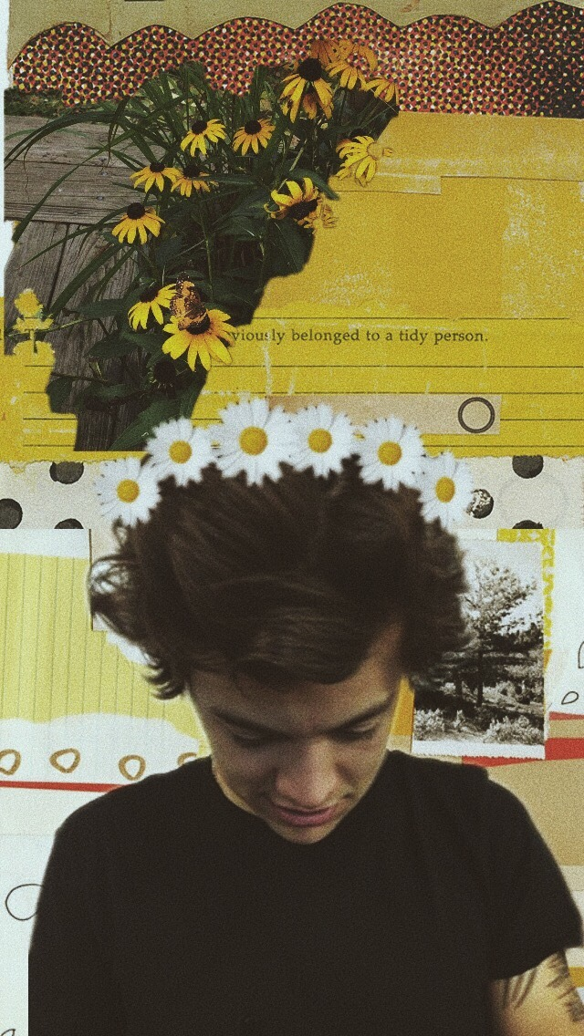 Vintage, Yellow, And Wallpaper Image - Background Phone Of Harry Styles - HD Wallpaper