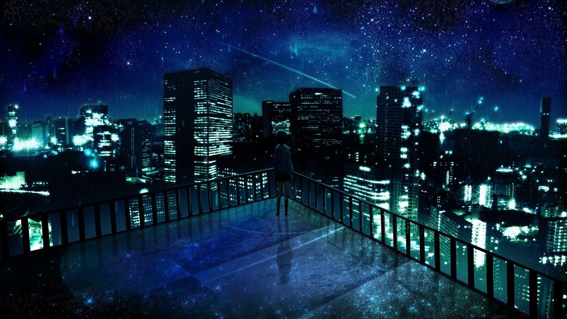 1920x1080, Stunning Anime City Wallpaper 42583   Data - Anime Dark City Background - HD Wallpaper