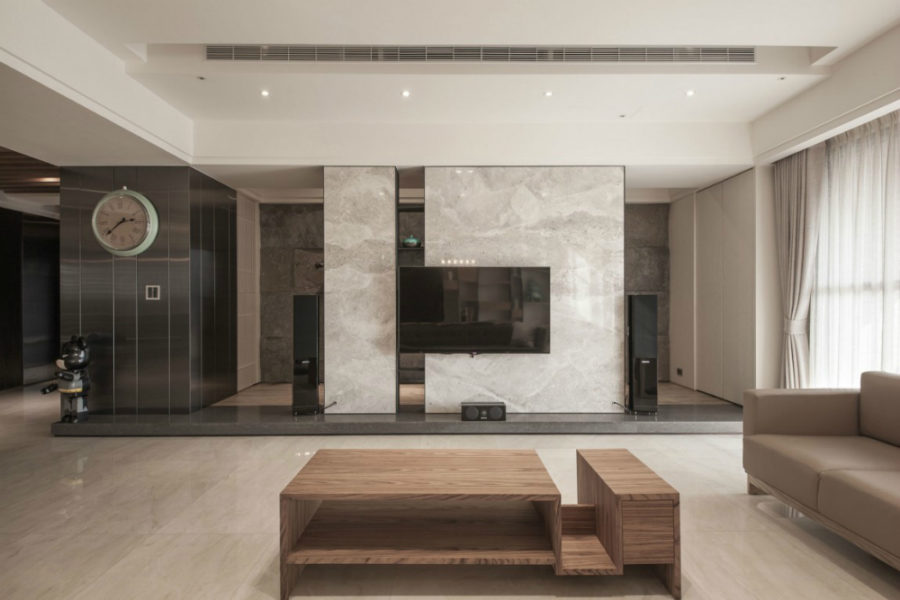 Awesome Marble Wall Design Elegant Contemporary And - Modern Tv Feature Wall - HD Wallpaper