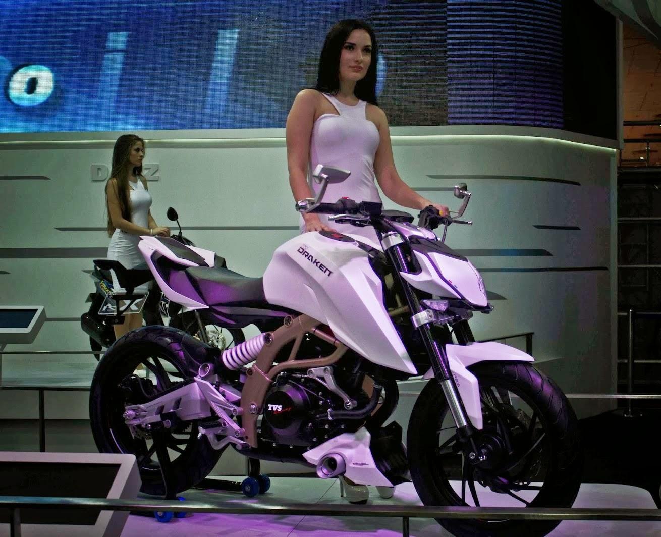 Image For Tvs Draken 2016 Bike With Hot Girls - Motorcycle - HD Wallpaper
