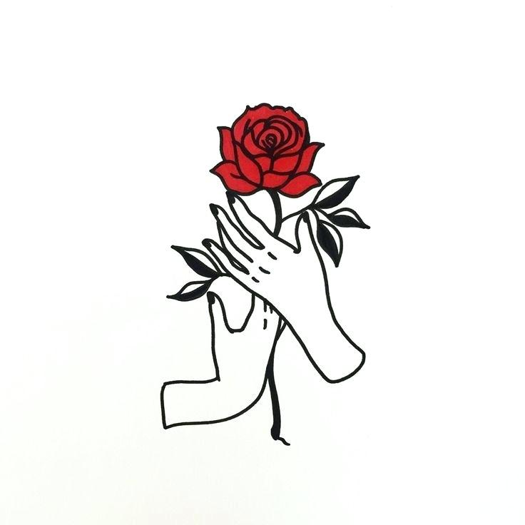 Roses Drawing Rose Drawing Easy Method Hands Holding A Rose Drawing 736x736 Wallpaper Teahub Io