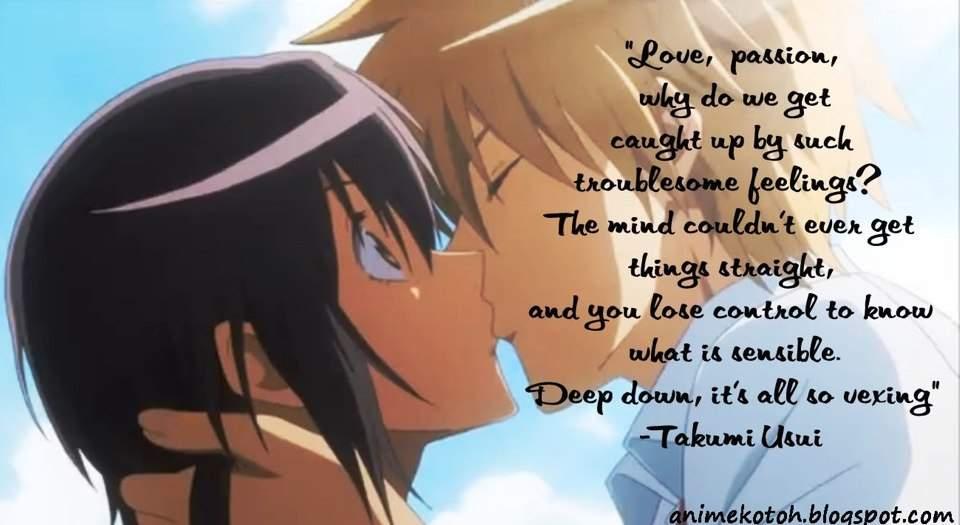 Quotes Anime Amino - Romantic Anime Love Quotes - HD Wallpaper