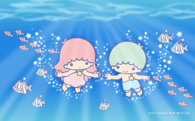 Little Twin Star Summer - HD Wallpaper