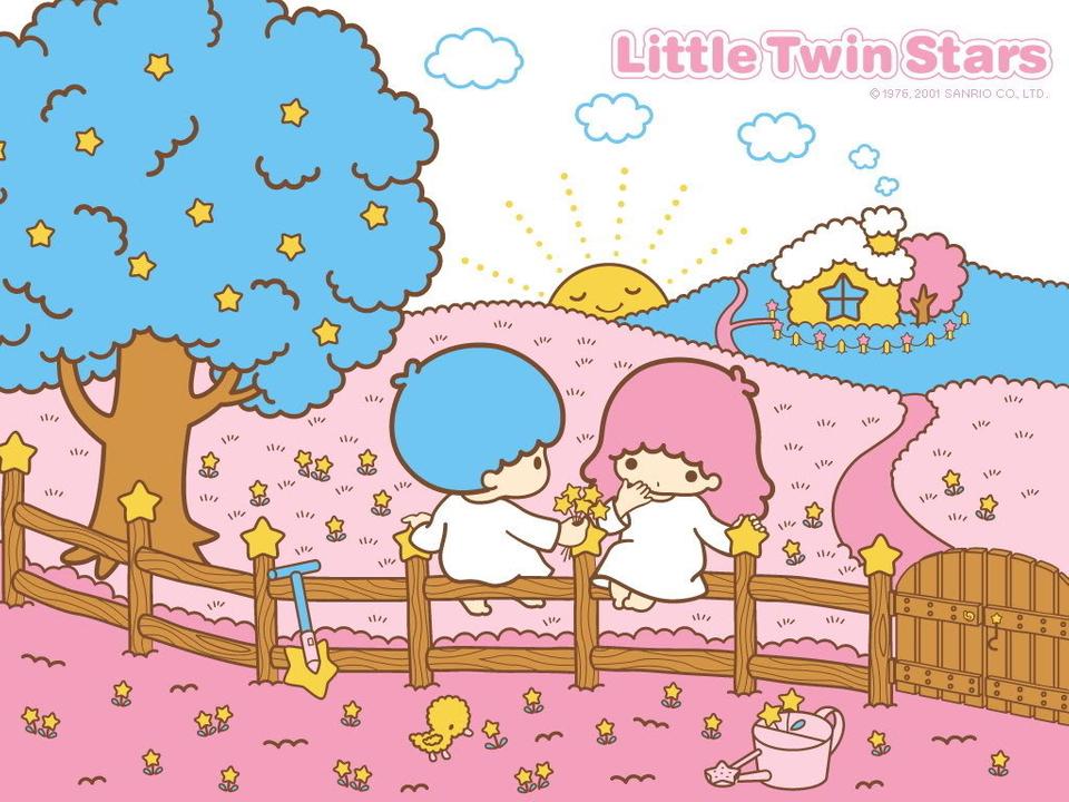 Gambar Kartun Little Twin Stars - HD Wallpaper