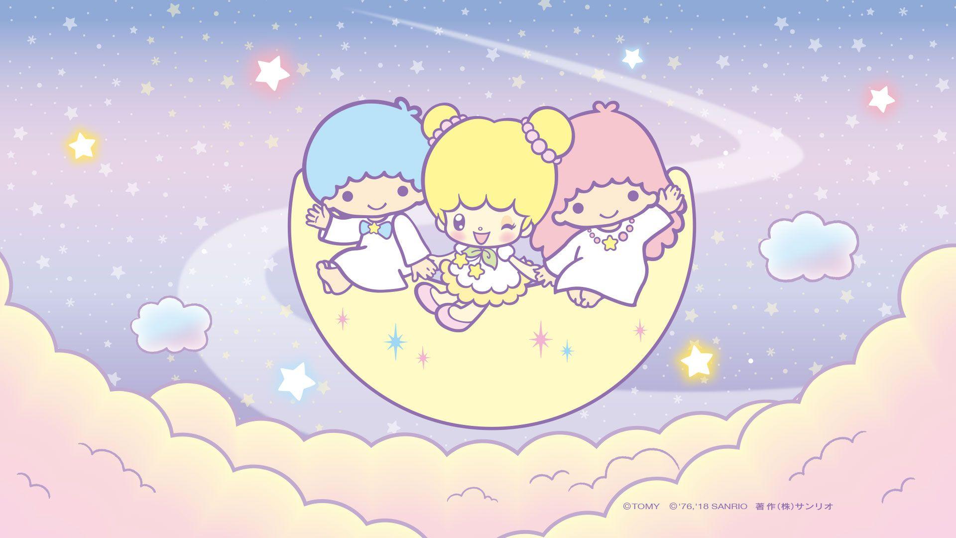 Little Twin Stars Background - HD Wallpaper