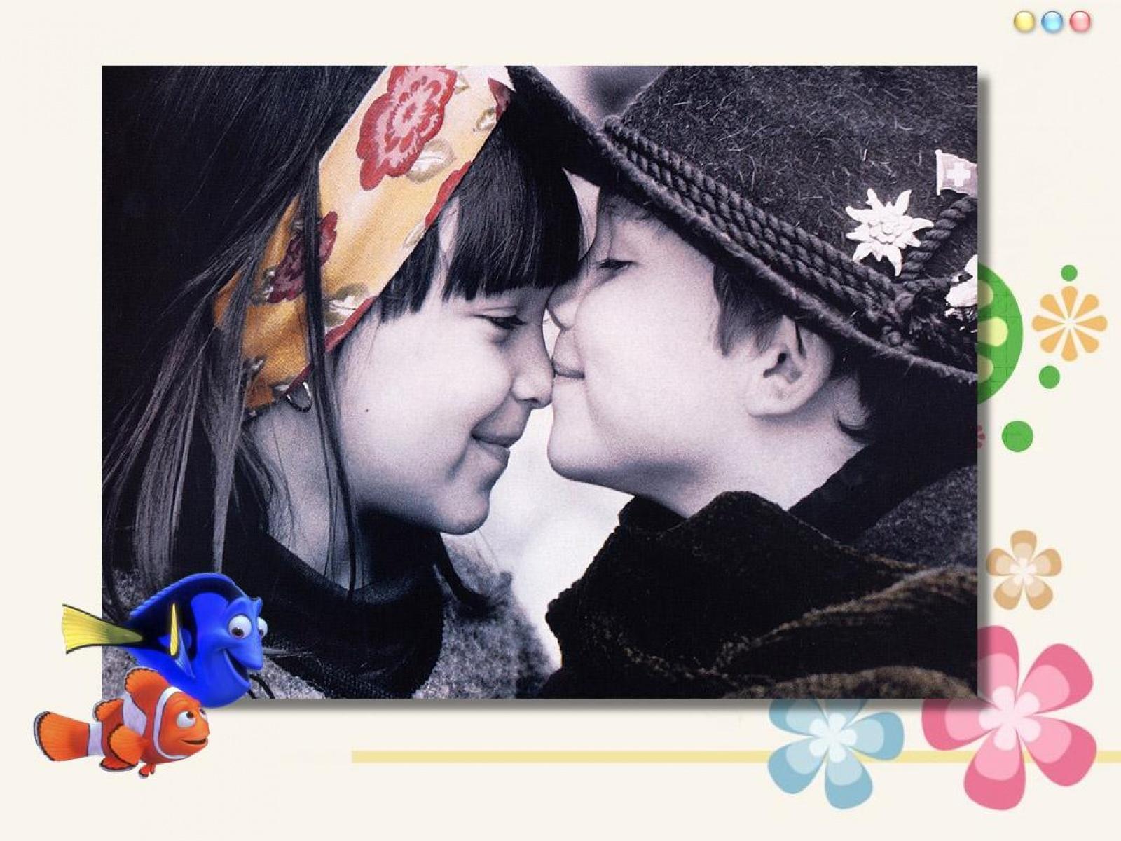 Cute Love Couple Hd Wallpaper - Love Romantic Cute Baby Couple - HD Wallpaper