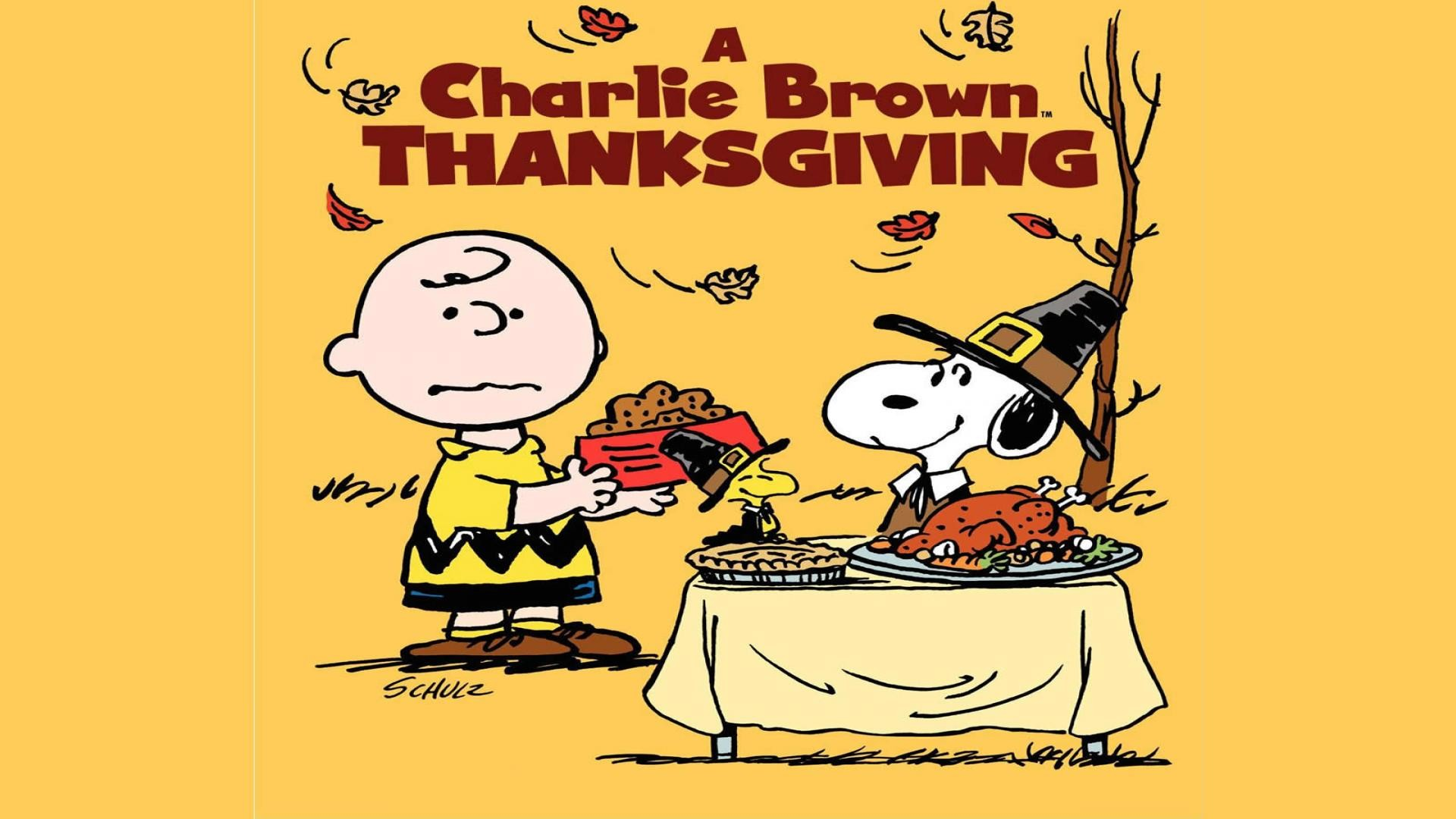 1920x1080, Snoopy Thanksgiving Wallpapers - Charlie Brown Thanksgiving Poster - HD Wallpaper