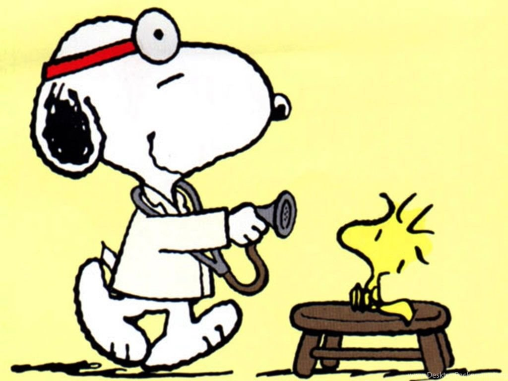 Snoopy Spring Desktop Wallpaper - Snoopy Doctor - HD Wallpaper