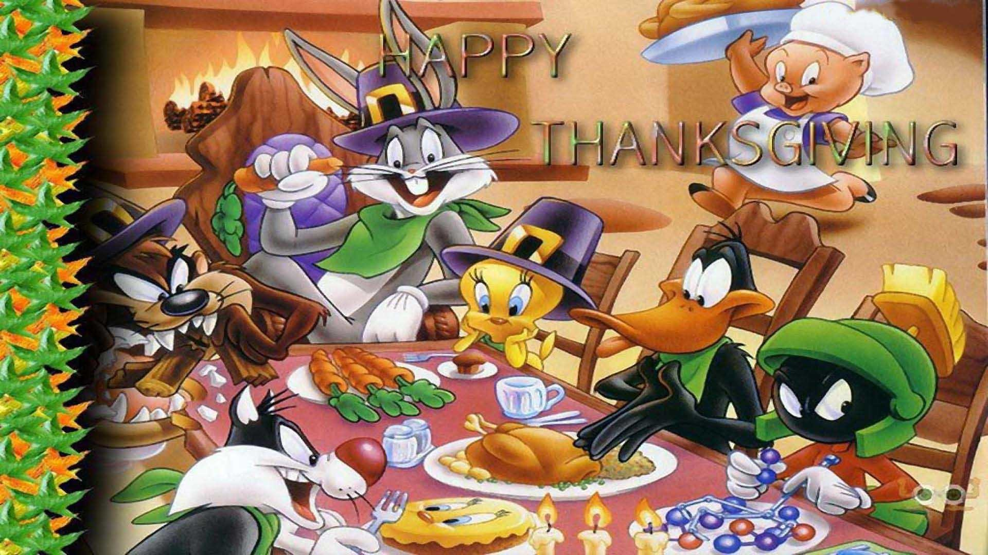 Photo Collection Snoopy Thanksgiving Wallpaper 1920 - Looney Tunes Thanksgiving - HD Wallpaper