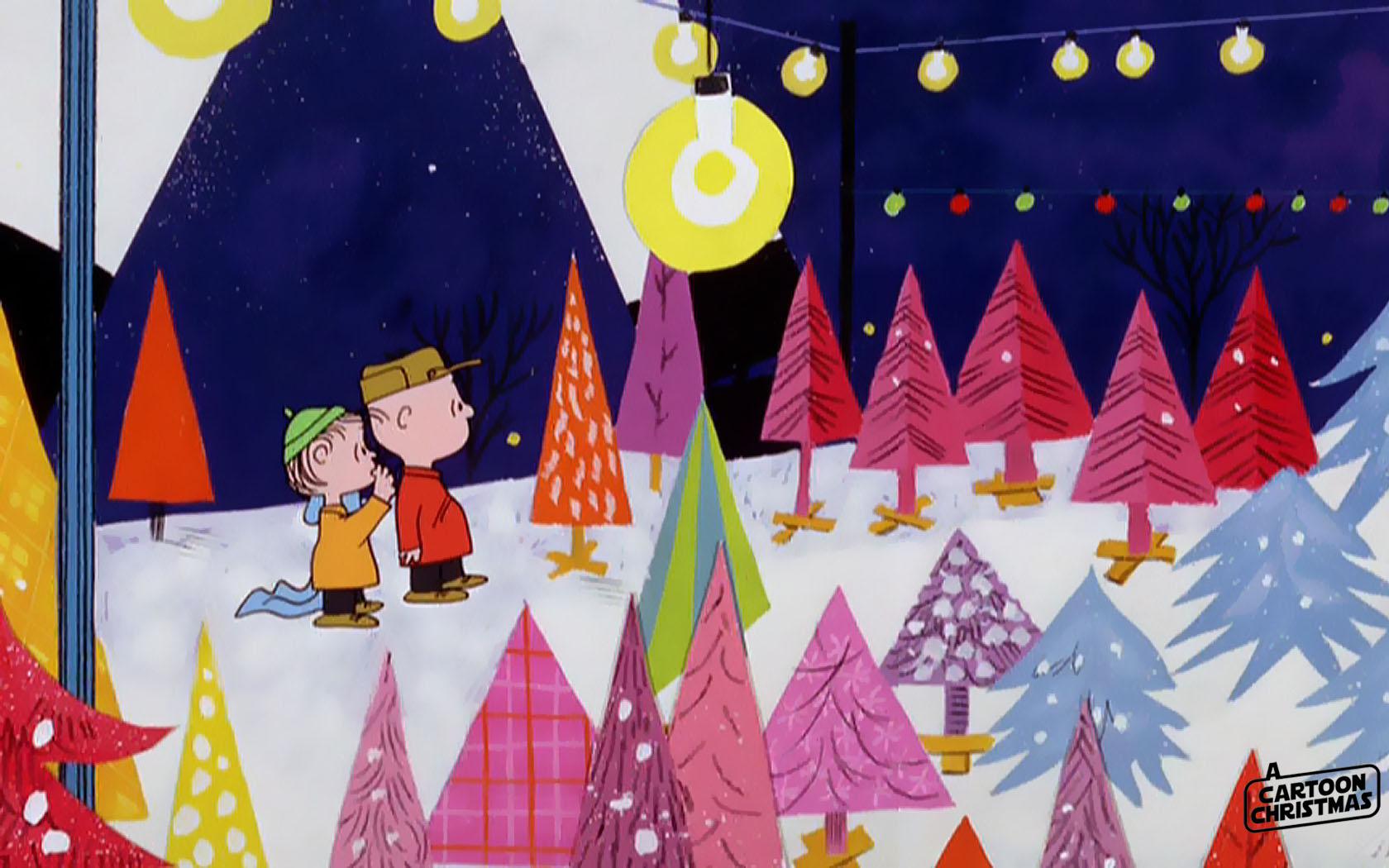 Peanuts Thanksgiving Wallpaper 1680—1050 - Charlie Brown Christmas Christmas Tree Lot - HD Wallpaper