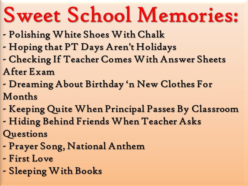 Sweet School Memories - School Memories Old Friends Quotes - HD Wallpaper