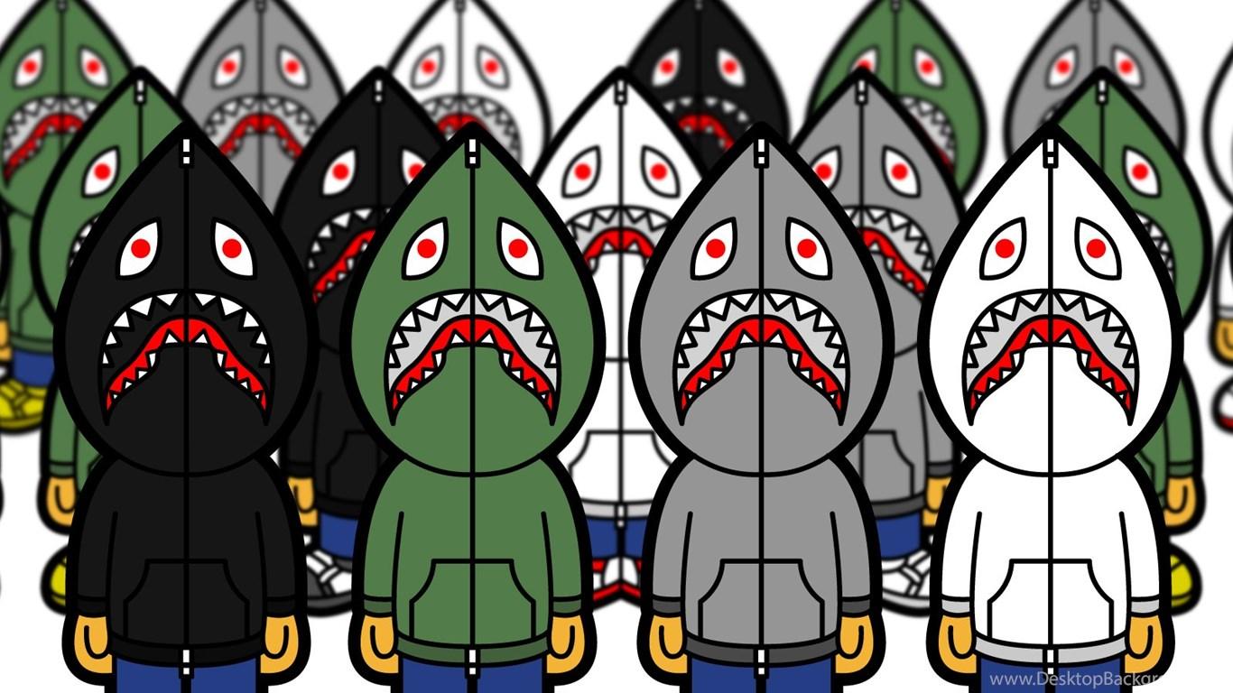 Bape Shark Wallpaper 1366x768, - Bape Shark Desktop Hd - HD Wallpaper