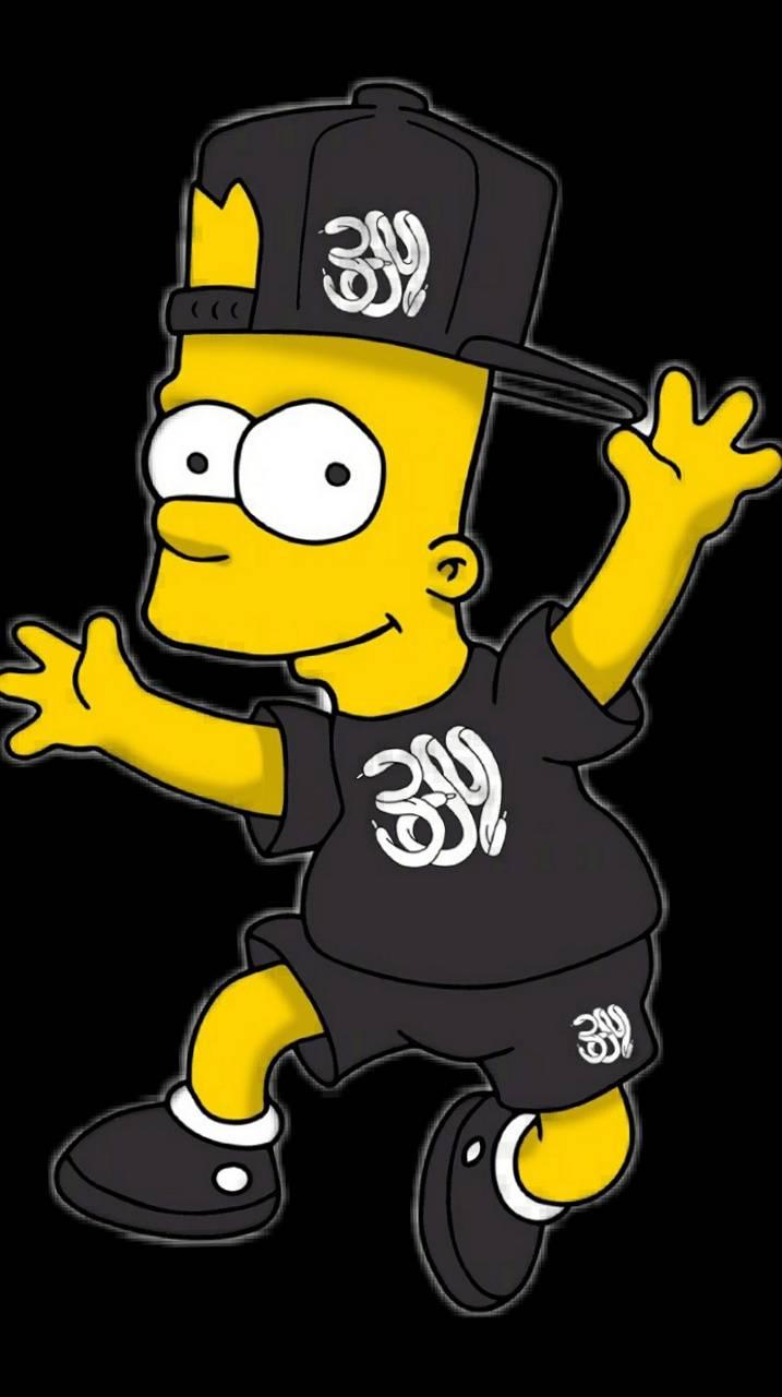 Bart Simpson Wallpaper Black - HD Wallpaper