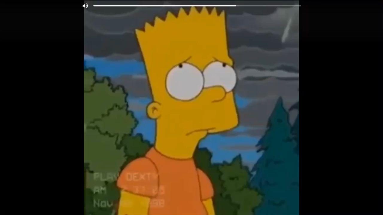 Aesthetic Sad Gif Bart Simpson Sad - HD Wallpaper