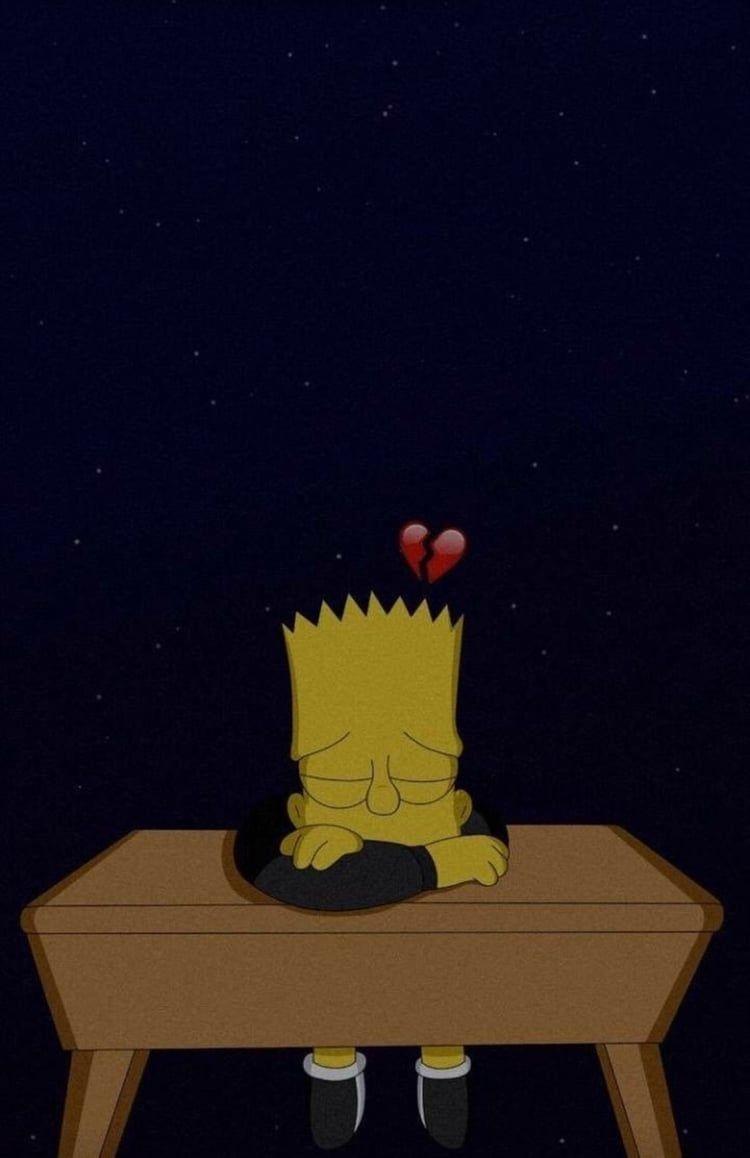 Heartbroken Sad Bart Simpson - HD Wallpaper