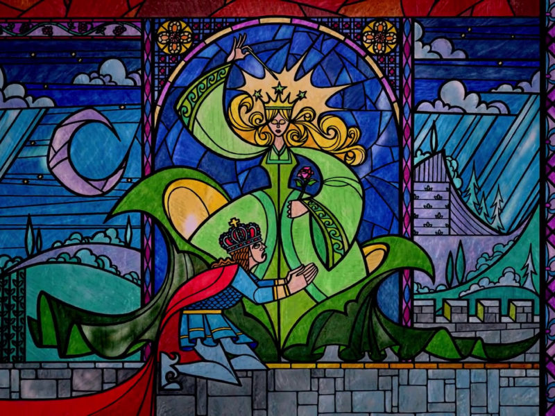 Beautiful Portrait Hd Wallpaper Beauty And The Beast - Beauty And The Beast Stained Glass Coloring - HD Wallpaper