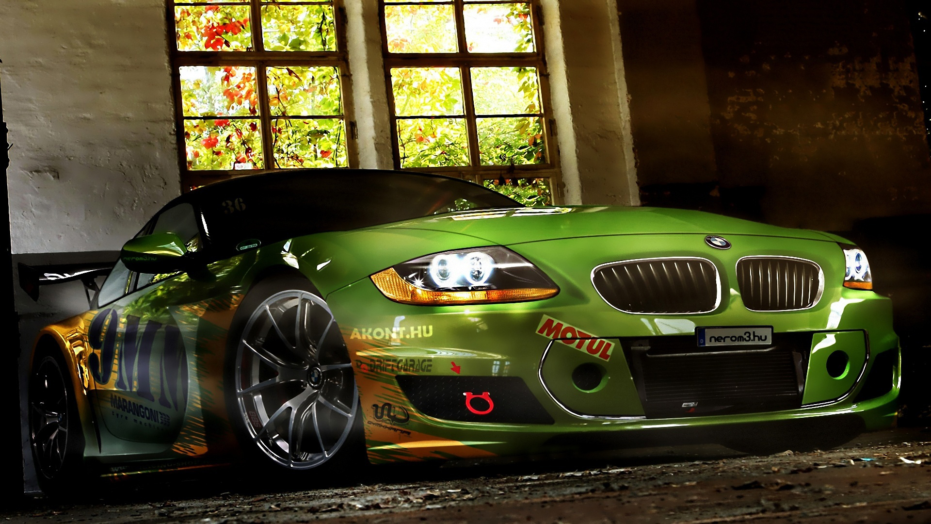 Green Bmw Modification Cars Hd Wallpapers Modified Cars Wallpapers Hd 1920x1080 Wallpaper Teahub Io