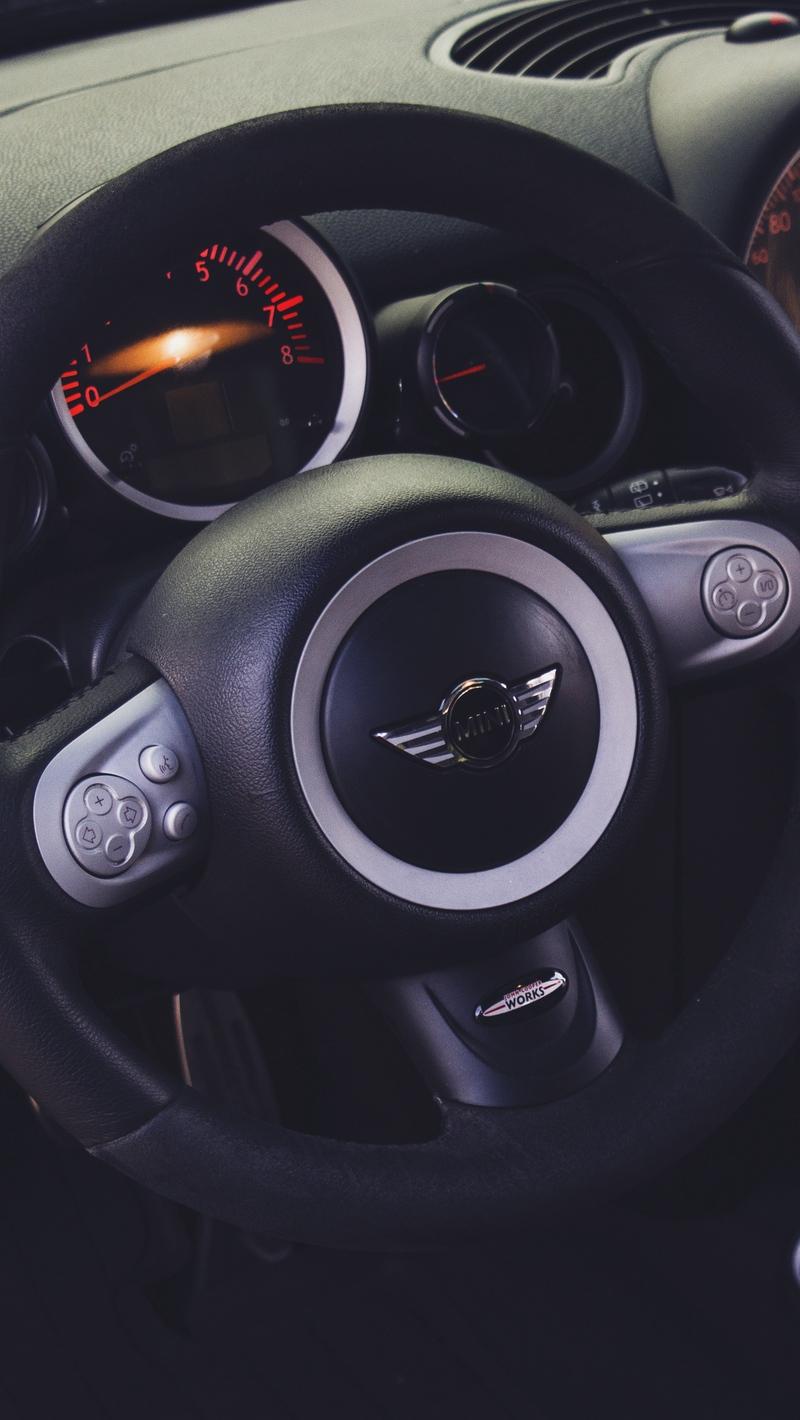 Wallpaper Mini Cooper Steering Wheel Car Interior Full Hd Mini Cooper Wallpaper Iphone 800x1420 Wallpaper Teahub Io