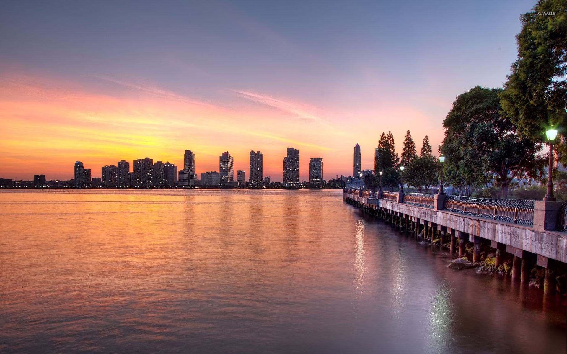 269 2694785 new york city sunset with light