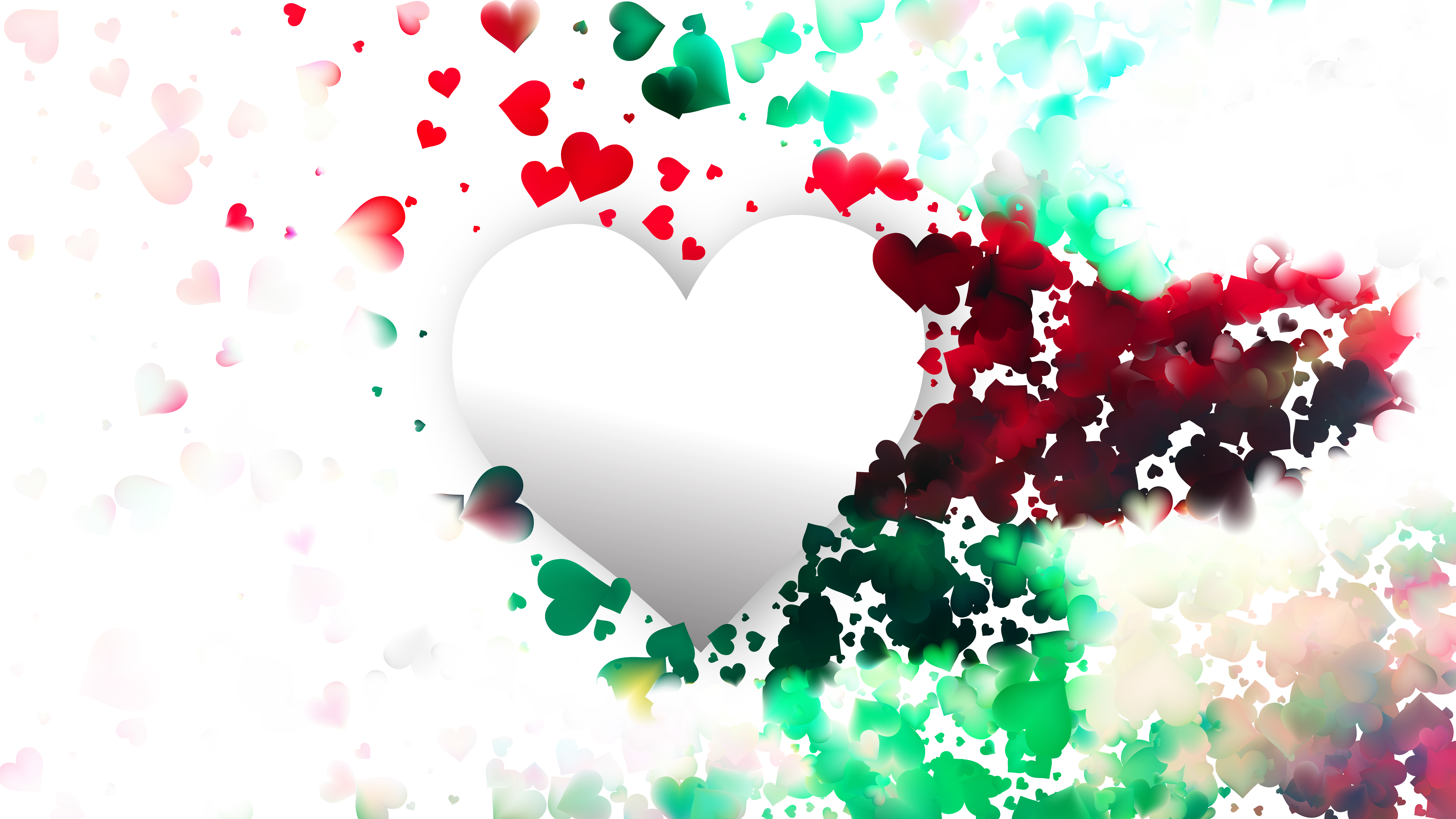 Colorful Heart Wallpaper Background Black Love Pic Background 8000x4500 Wallpaper Teahub Io
